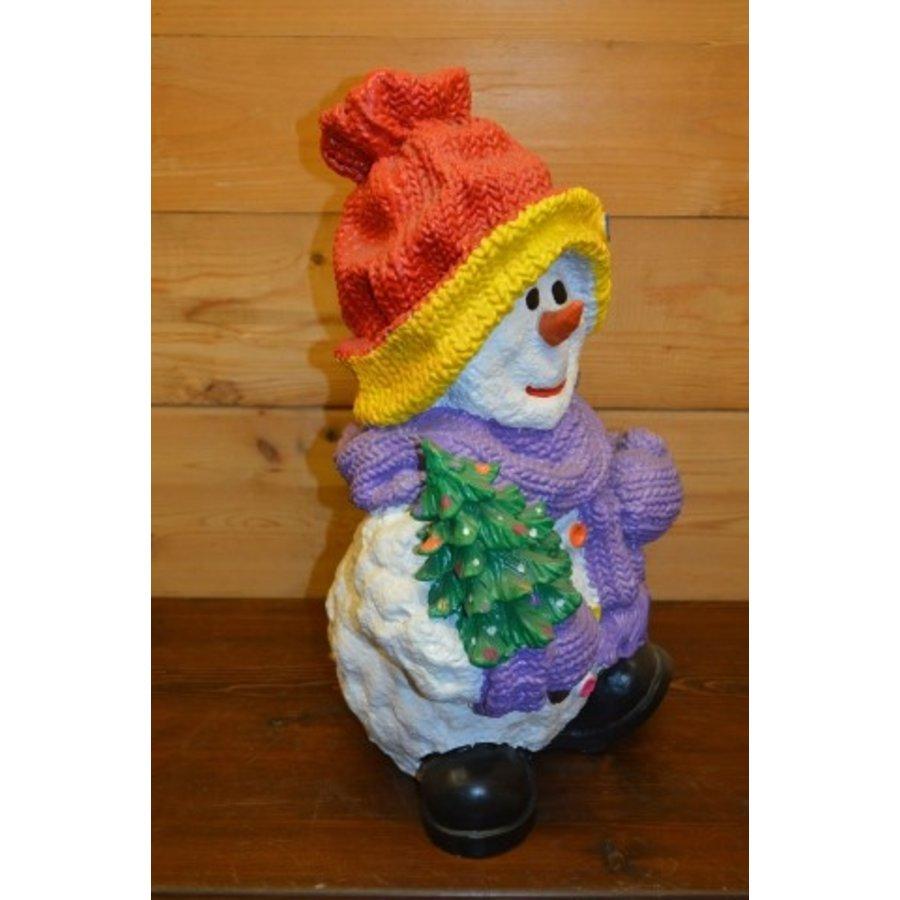 Sneeuwman Rode muts leuk voor de kerst-3