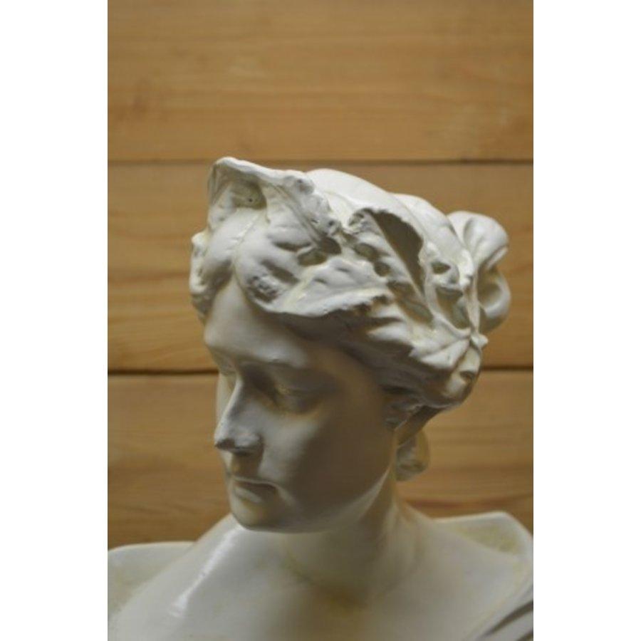 Romeinse of Griekse vrouw buste borstbeeld-5