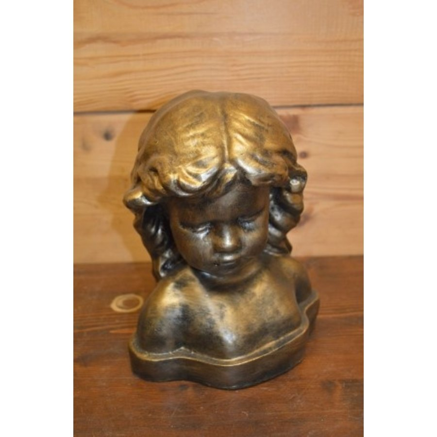 Meisje buste borstbeeld-1