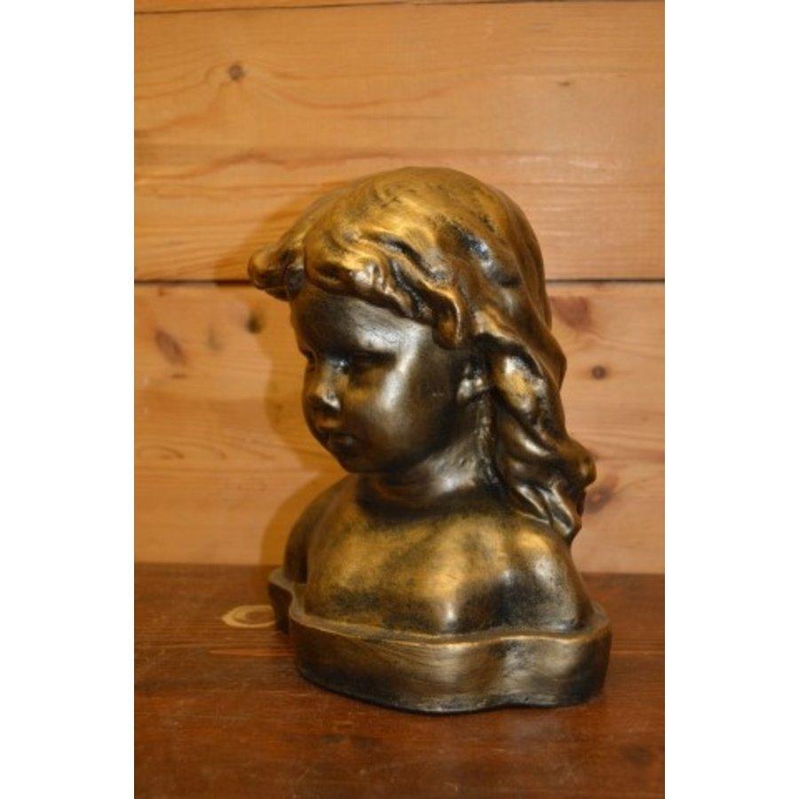 Meisje buste borstbeeld-4
