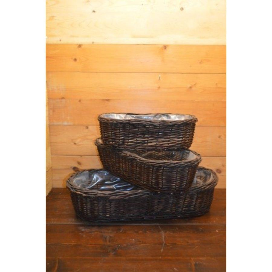 Set 3 stuks Plantenbak rondehoeken afgewerkt met plastic-1