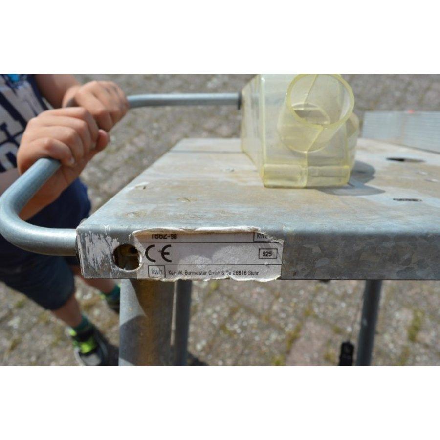 Hobby zaagbok metaal met veiligheidskap en schakelaar-2