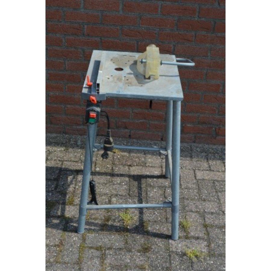 Hobby zaagbok metaal met veiligheidskap en schakelaar-4