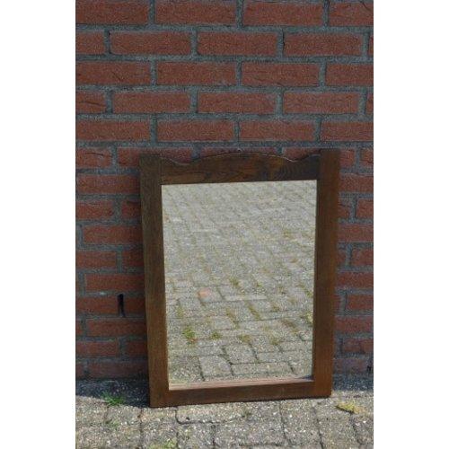 Spiegel donker eiken rechthoekig model