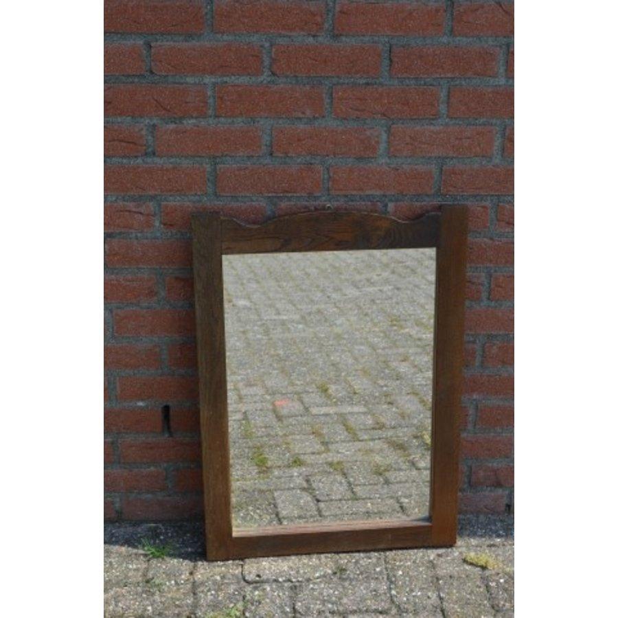 Spiegel donker eiken rechthoekig model-1