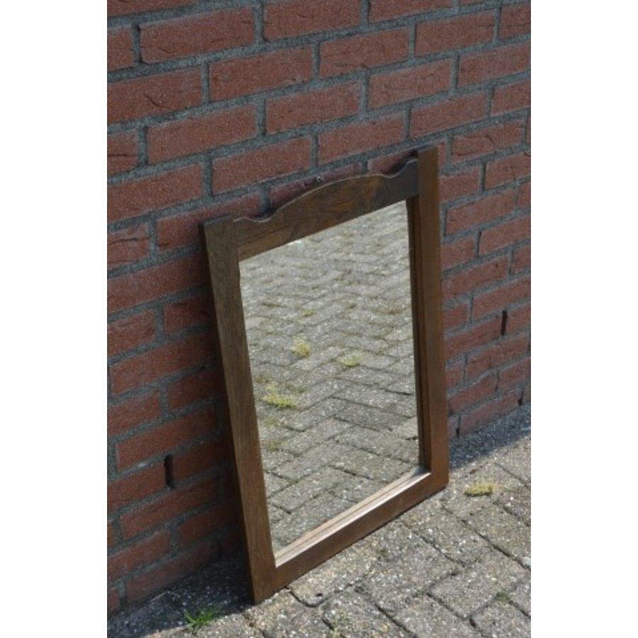 Spiegel donker eiken rechthoekig model-2