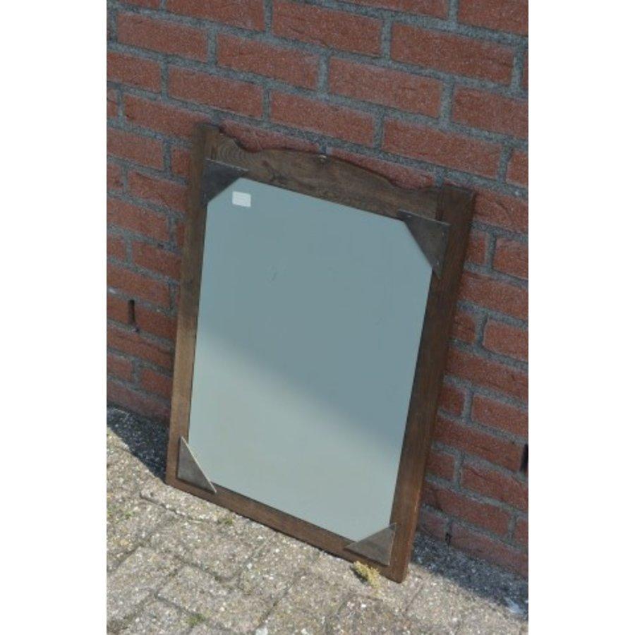 Spiegel donker eiken rechthoekig model-3