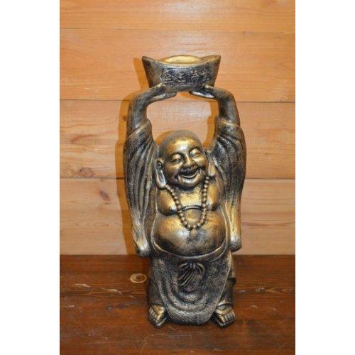 Happy boeddha handen omhoog