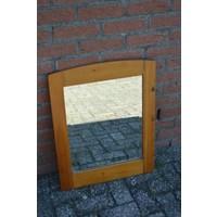 thumb-Grenen lijst met facet geslepen spiegel-1
