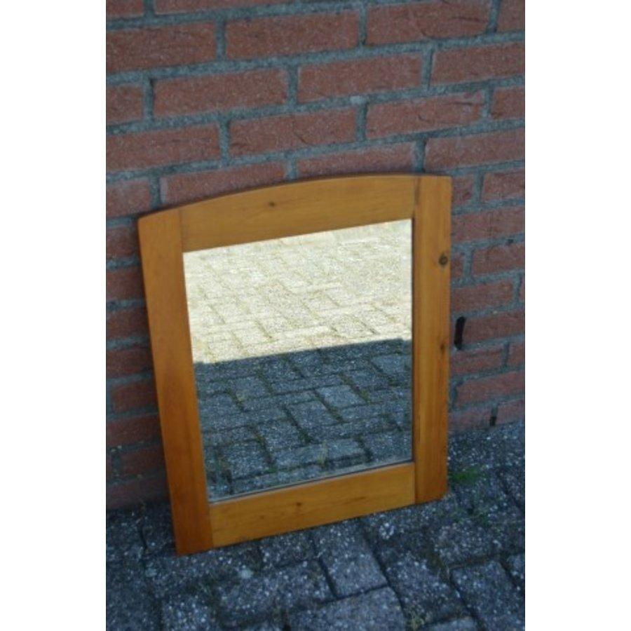 Grenen lijst met facet geslepen spiegel-1