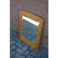 thumb-Grenen lijst met facet geslepen spiegel-2