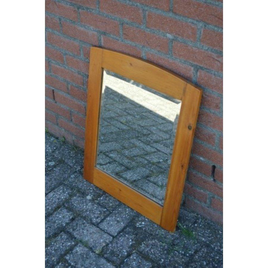 Grenen lijst met facet geslepen spiegel-2