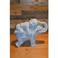 thumb-Monnik liggende op een olifant-1