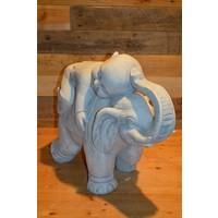 thumb-Monnik liggende op een olifant-2