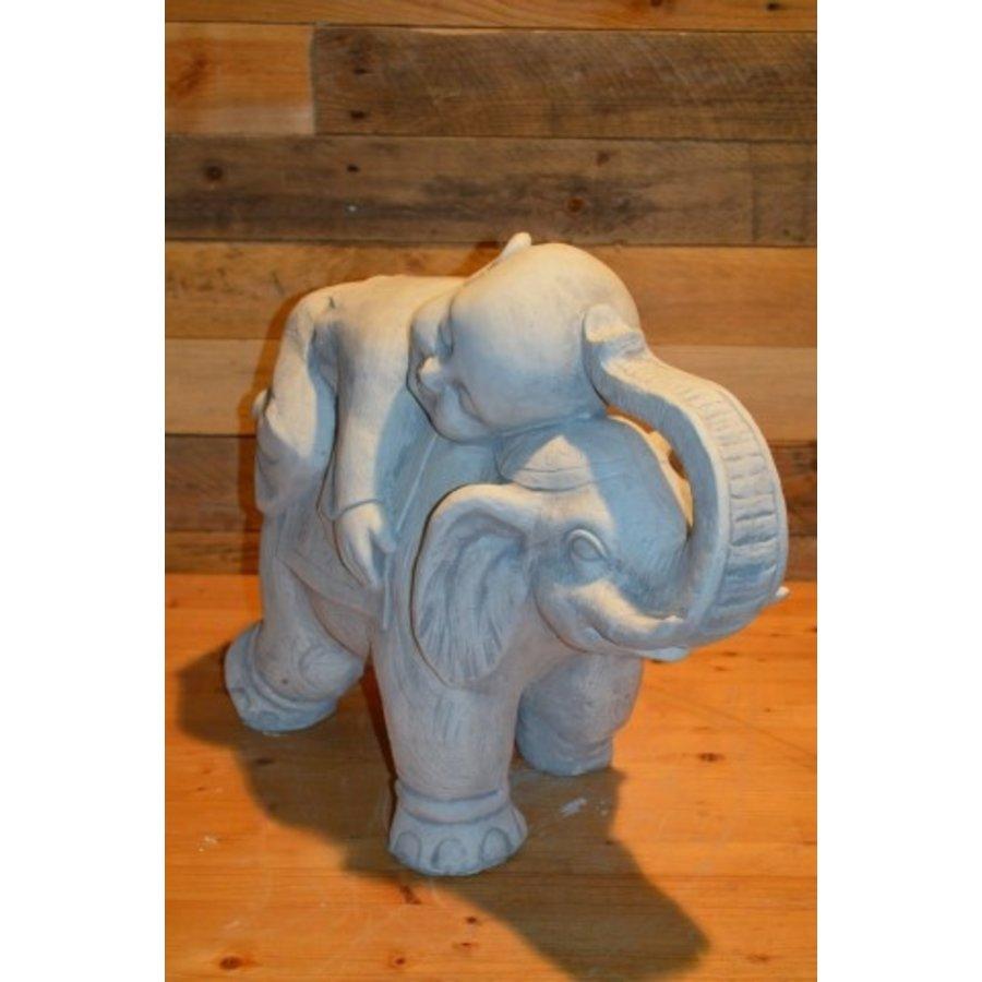Monnik liggende op een olifant-2