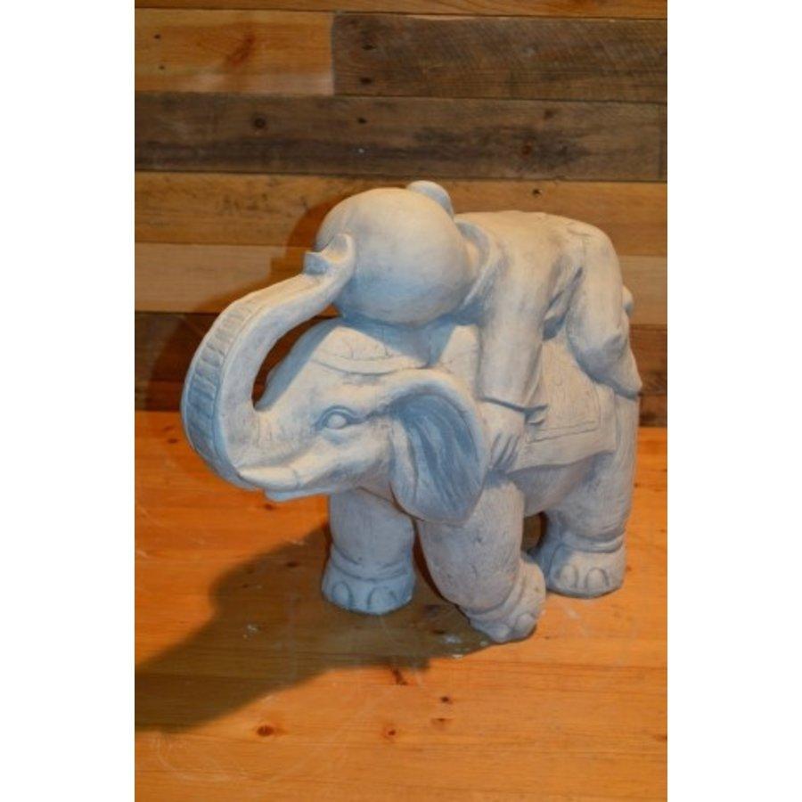 Monnik liggende op een olifant-3