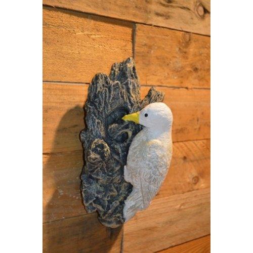 Vogel op boomstam wanddecoratie