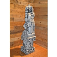thumb-Balinese tempelwachter rechts kijkend + pilaar-4