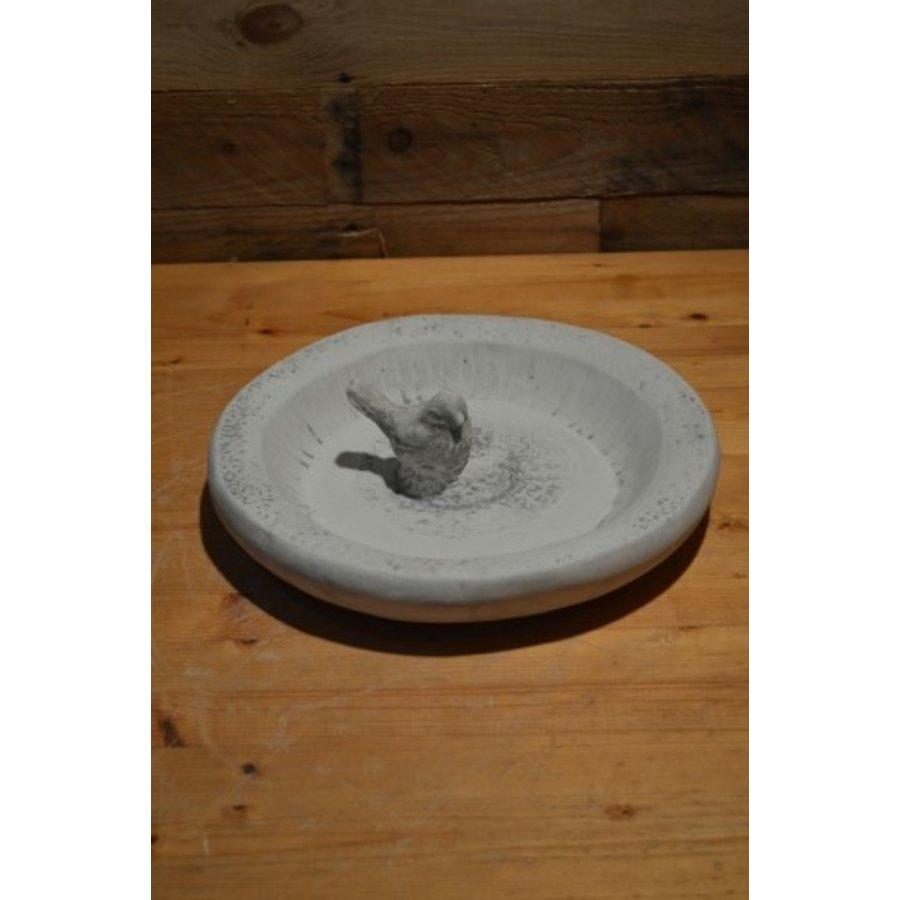 Waterbak met vogeltje-2