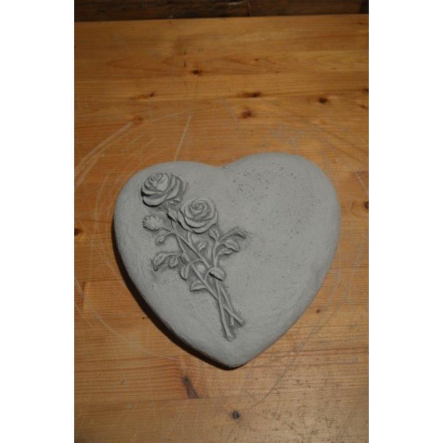 Liggend hart met rozen-2