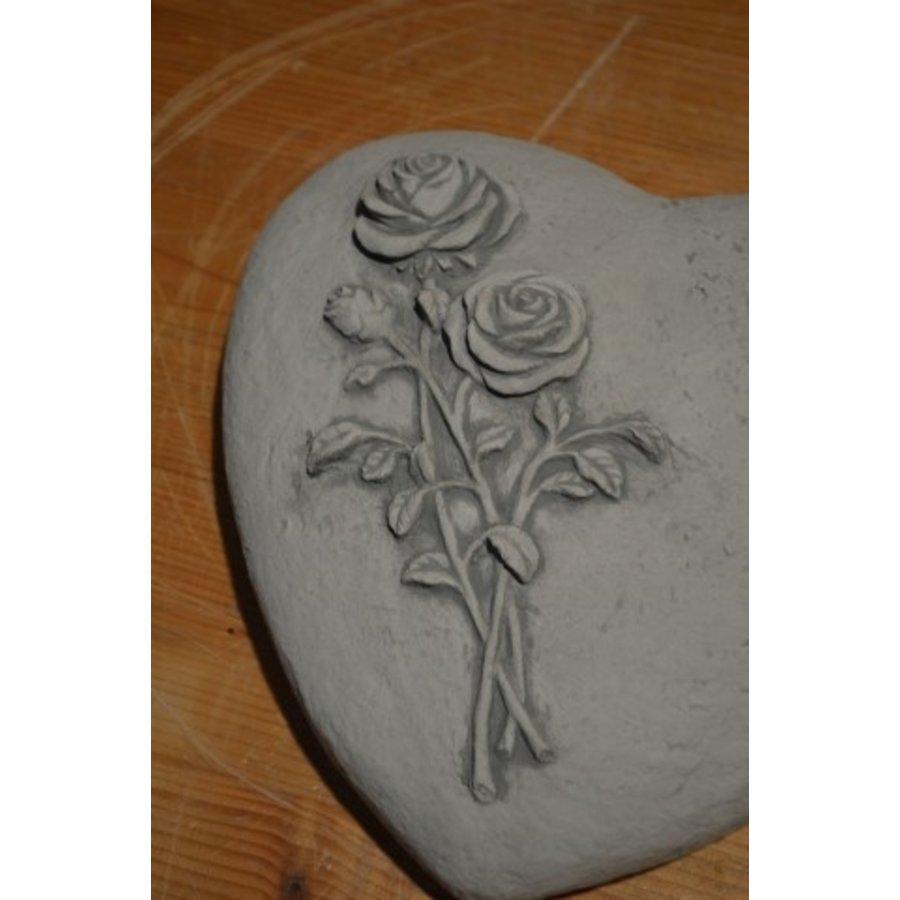 Liggend hart met rozen-4