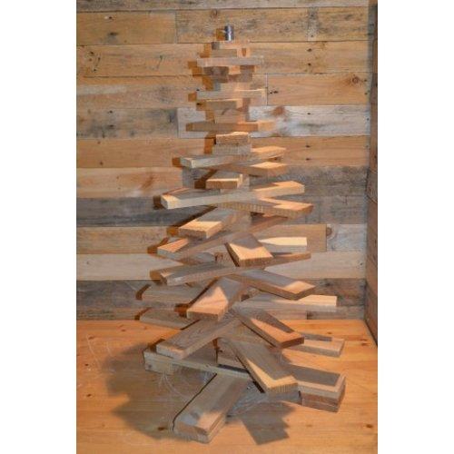 Kleine kerstboom van pallethout