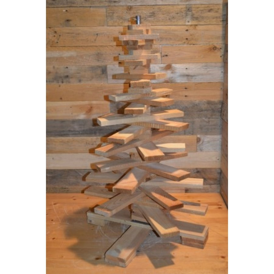 Kleine kerstboom van pallethout-1