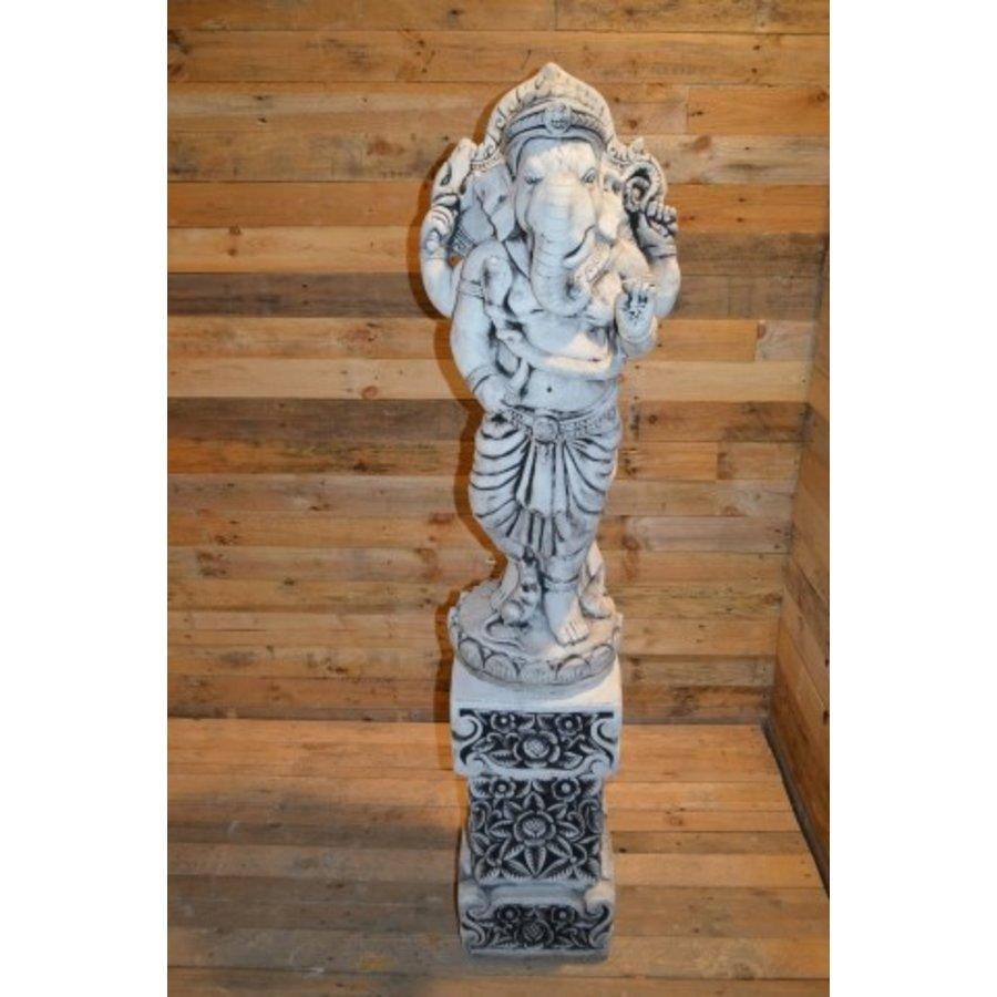 Staande Ganesha + pilaar-3