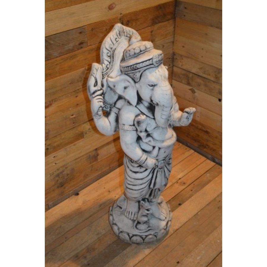 Staande Ganesha met pilaar-8