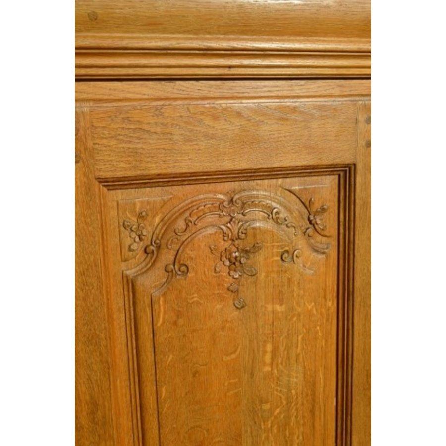 Kasteel dressoir robuust ambachtelijk met houtsnijwerk-4