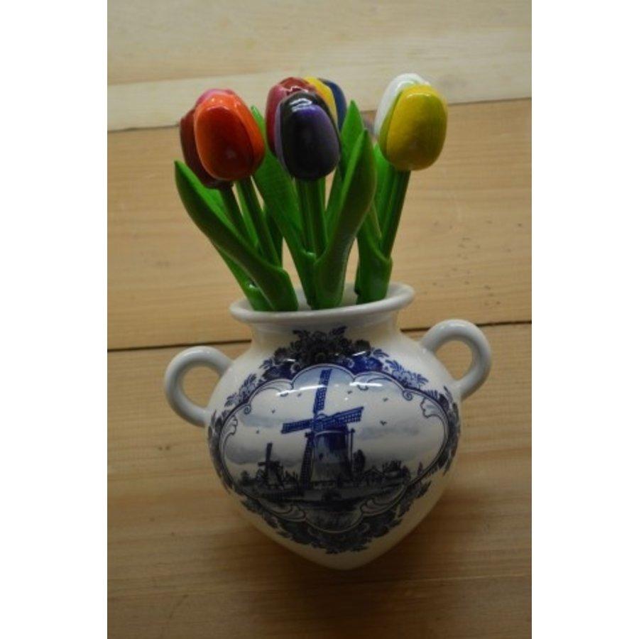 Hollands hangvaasje met houten tulpen-3