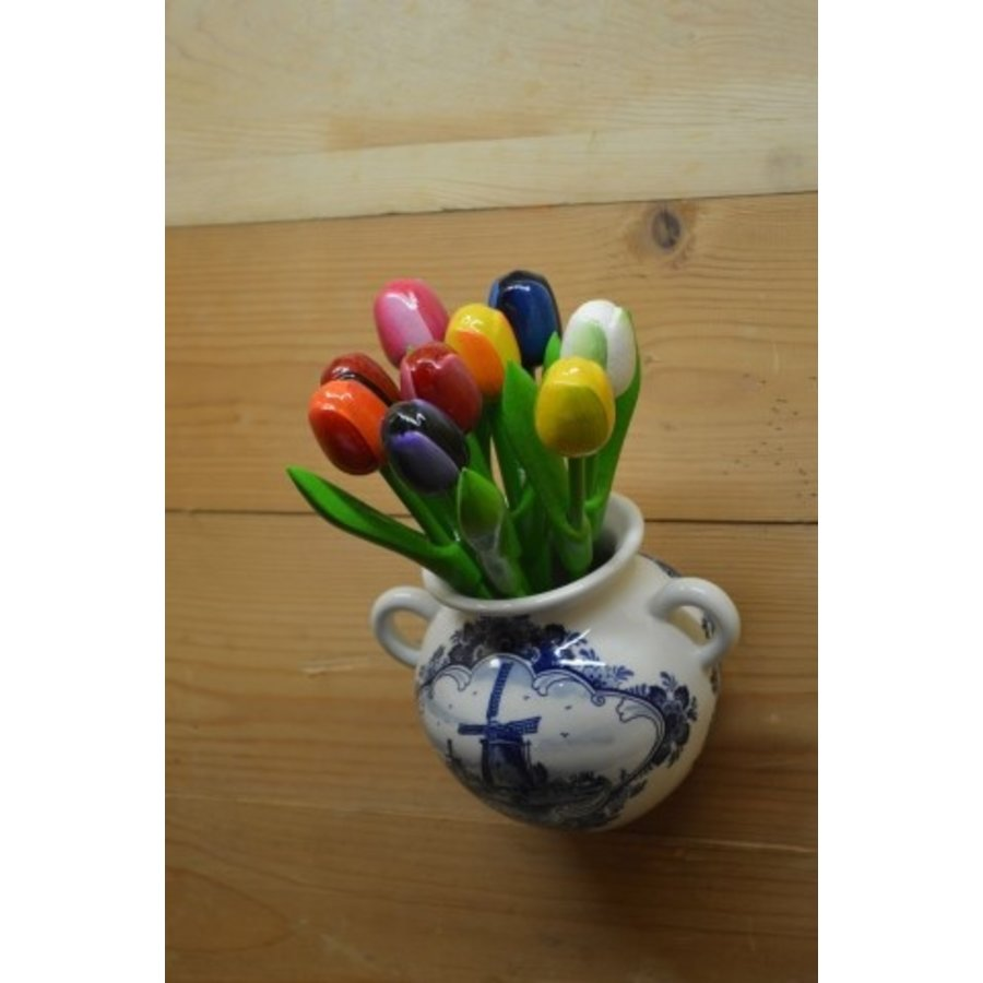 Hollands hangvaasje met houten tulpen-4
