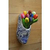 thumb-Klomp van aardewerk met houten tulpen-1