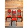 Meulenveld Recycling 4 stoelen oud eiken met rode stof