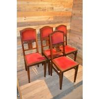 thumb-4 stoelen oud eiken met rode stof-2