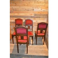 thumb-4 stoelen oud eiken met rode stof-4