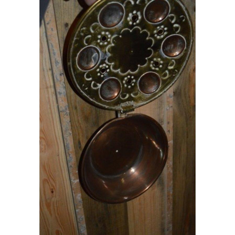 Bedstoof kleine pan vintage gebruiks voorwerp-2