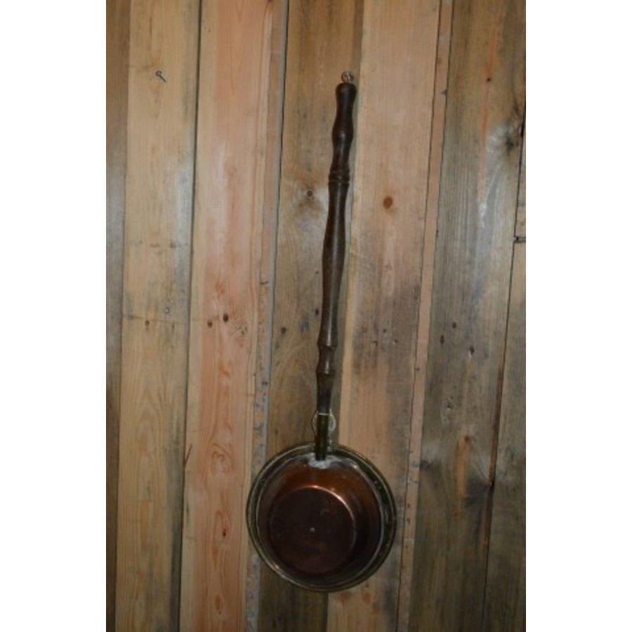 Bedstoof kleine pan vintage gebruiks voorwerp-3