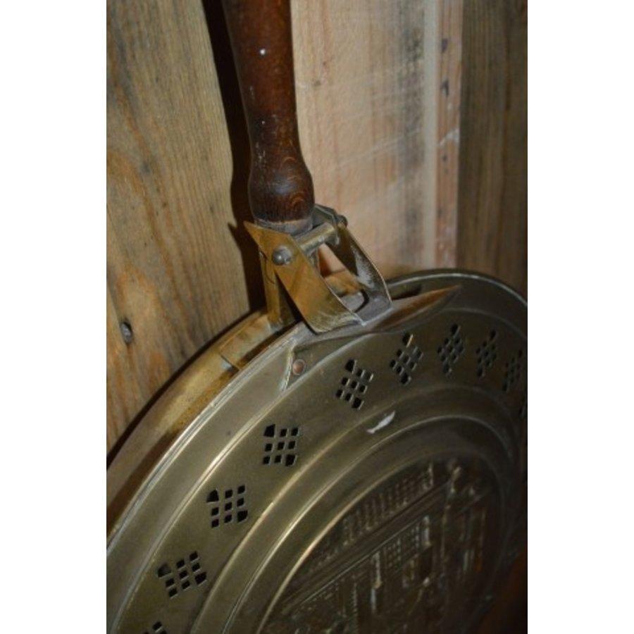 Bed stoof pan met deksel en een lange steel-4