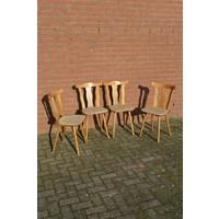 thumb-Caféstoelen van beukenhout met een gestoffeerde zitting-1