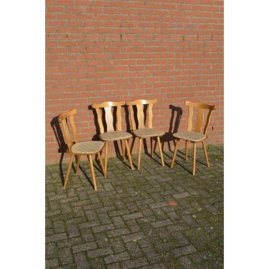 Caféstoelen van beukenhout met een gestoffeerde zitting-1