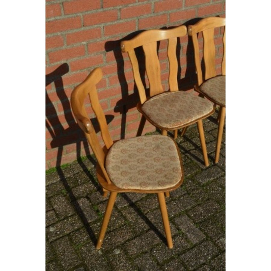 Caféstoelen van beukenhout met een gestoffeerde zitting-2