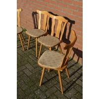 thumb-Caféstoelen van beukenhout met een gestoffeerde zitting-3