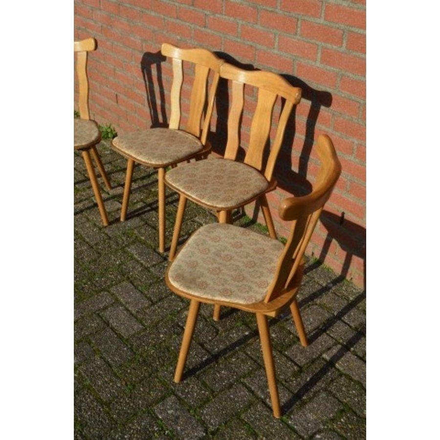 Caféstoelen van beukenhout met een gestoffeerde zitting-3