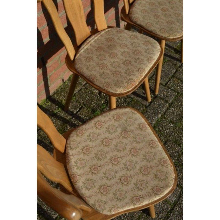 Caféstoelen van beukenhout met een gestoffeerde zitting-5