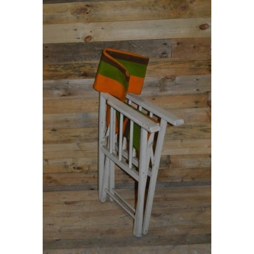 Brocante houten stoel inklapbaar camping stoel