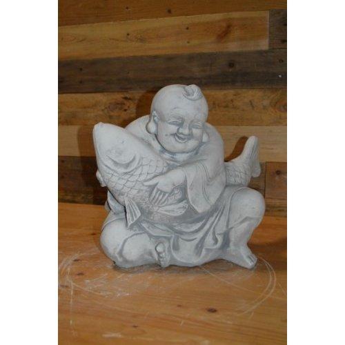 Shaolin boeddha met koi