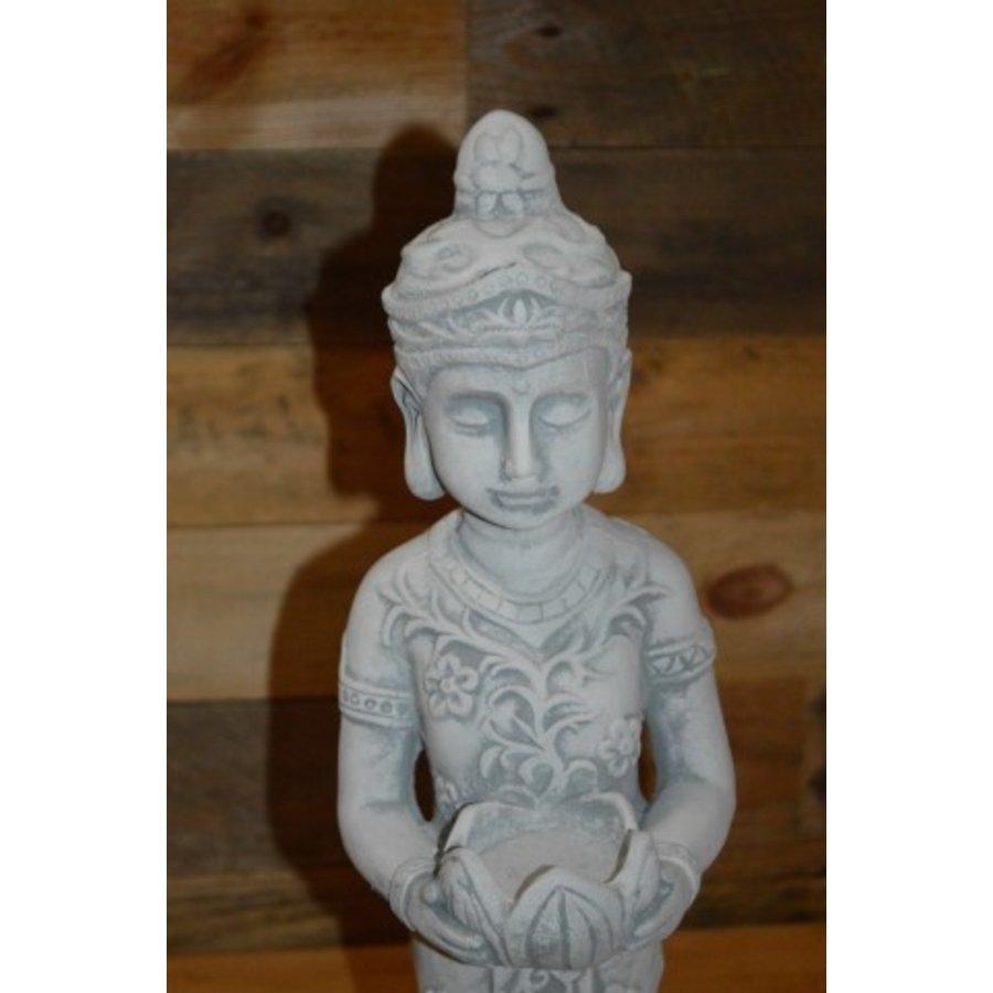Staande Shiva met theelicht houder-5