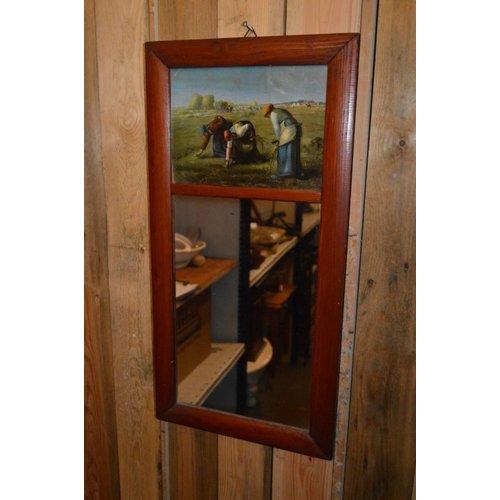 Spiegel met afbeeldingen van arbeiders