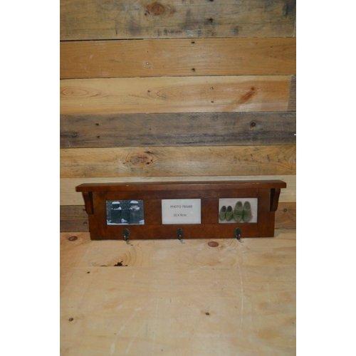 Retro Kapstok van acacia hout